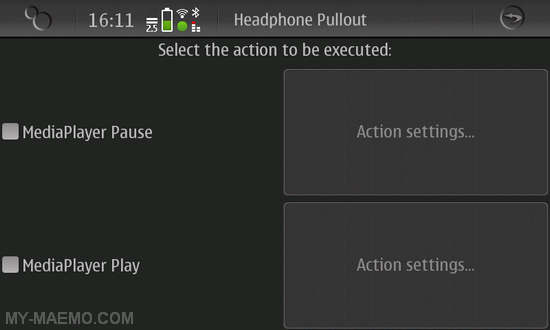Action Manager Daemon for Nokia N900 / Maemo 5