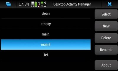 Desktop Activity Manager for Nokia N900 / Maemo 5