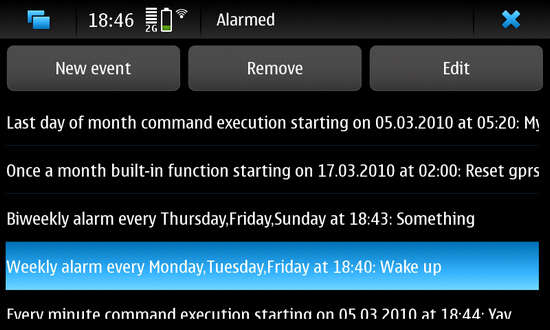 Alarmed for Nokia N900 / Maemo 5