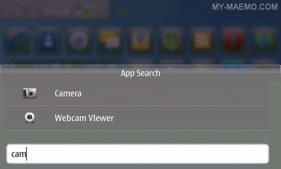 App Search Widget for Nokia N900 / Maemo 5