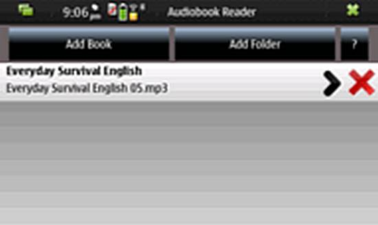 Audiobook Reader for Nokia N900 / Maemo 5