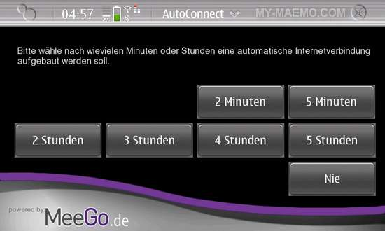 AutoConnect for Nokia N900 / Maemo 5