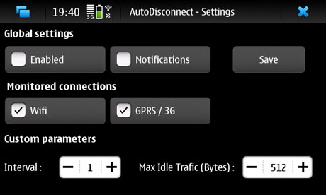AutoDisconnect for Nokia N900 / Maemo 5