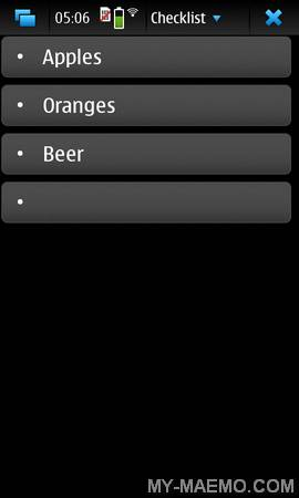 Checklist for Nokia N900 / Maemo 5