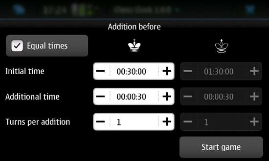 Chess Clock for Nokia N900 / Maemo 5