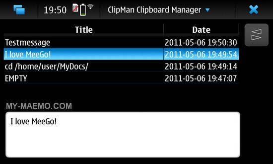 Clipman for Nokia N900 / Maemo 5