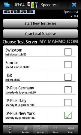 cnlab Speedtest for Nokia N900 / Maemo 5