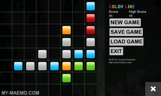 Color Line for Nokia N900 / Maemo 5