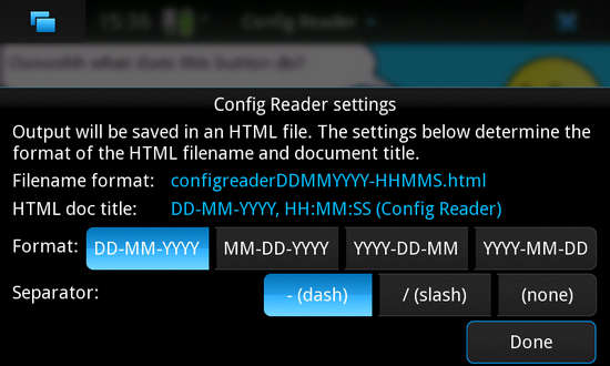 Config Reader for Nokia N900 / Maemo 5