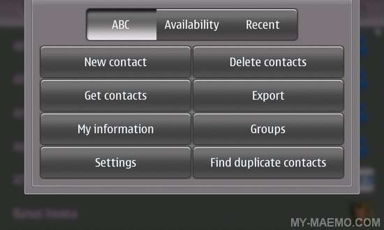 Contacts Merger for Nokia N900 / Maemo 5