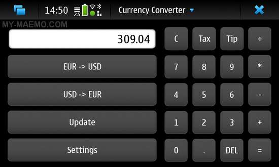 Currency Converter for Nokia N900 / Maemo 5