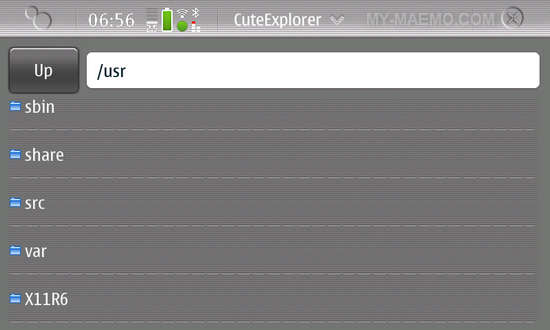 CuteExplorer for Nokia N900 / Maemo 5