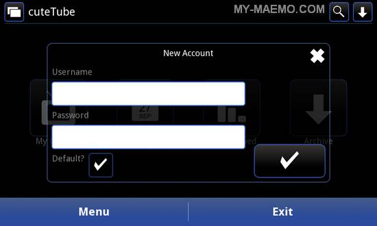 cuteTube-QML for Nokia N900 / Maemo 5