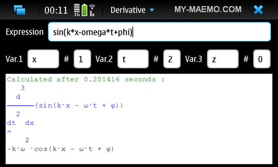Derivative for Nokia N900 / Maemo 5