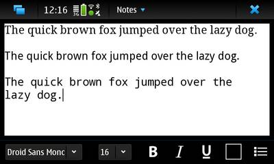 Droid Fonts for Nokia N900 / Maemo 5