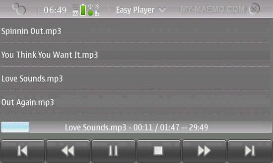 EasyPlayer for Nokia N900 / Maemo 5