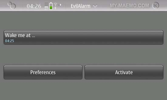 EvilAlarm for Nokia N900 / Maemo 5
