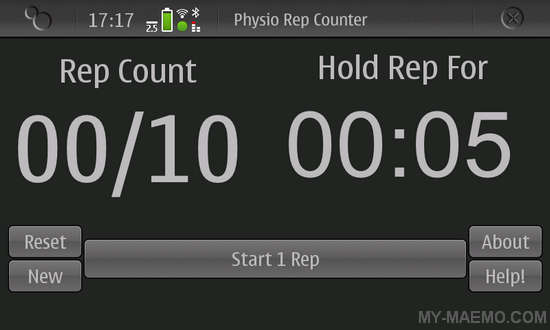 Exercise Rep Counter for Nokia N900 / Maemo 5