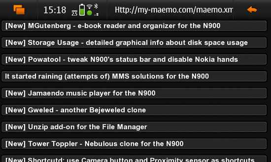 FeedingIt for Nokia N900 / Maemo 5