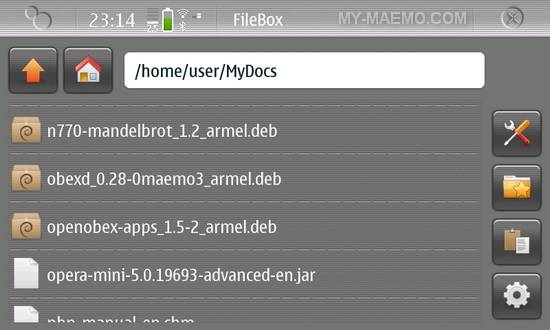 FileBox for Nokia N900 / Maemo 5