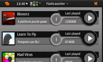 Flash Launcher for Nokia N900 / Maemo 5