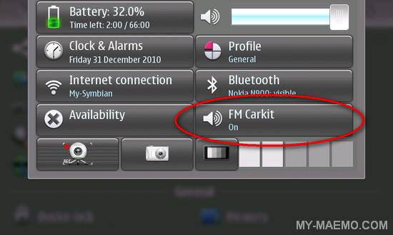 FM-CarKit for Nokia N900 / Maemo 5