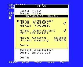 fMSX for Nokia N9 / N950 / MeeGo Harmattan