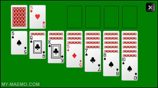 Solitaire for Nokia N900 / Maemo 5