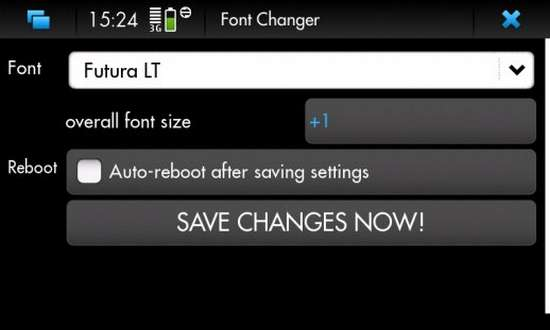 Font Changer for Nokia N900 / Maemo 5