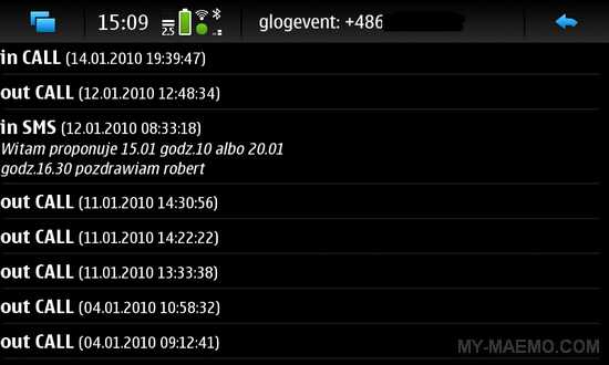 glogarchive for Nokia N900 / Maemo 5