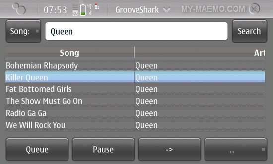 Groove for Nokia N900 / Maemo 5