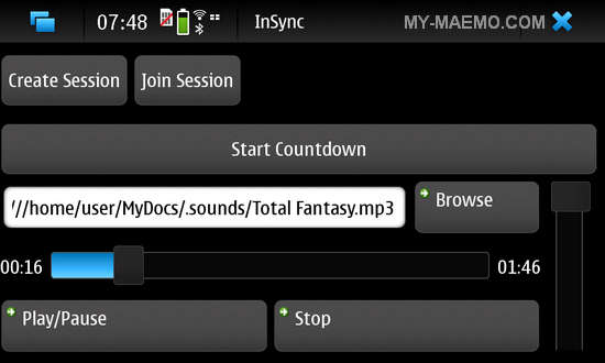 InSync for Nokia N900 / Maemo 5