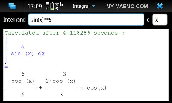 Integral for Nokia N900 / Maemo 5