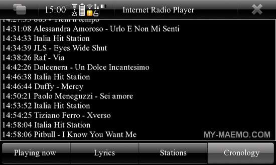 Internet Radio Player for Nokia N900 / Maemo 5