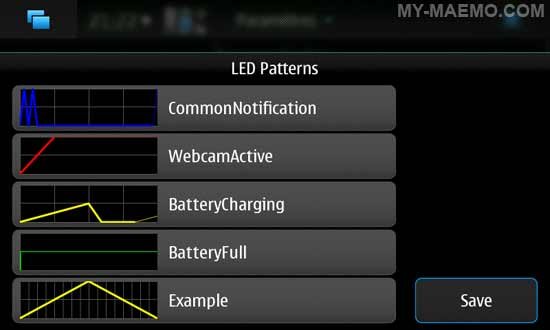 LED Pattern Editor for Nokia N900 / Maemo 5