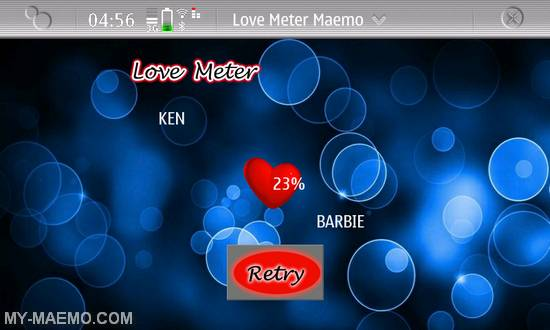 Love Meter for Nokia N900 / Maemo 5