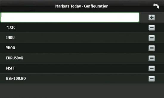 Markets Today for Nokia N900 / Maemo 5