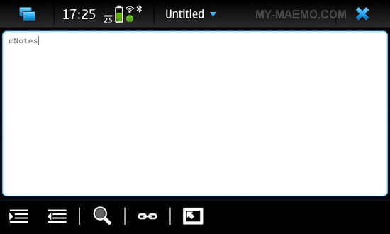 mNotes for Nokia N900 / Maemo 5