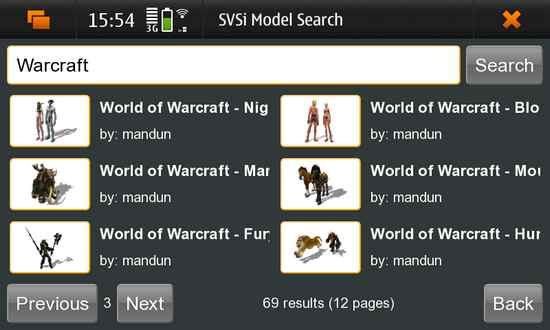 Model Search for Nokia N900 / Maemo 5