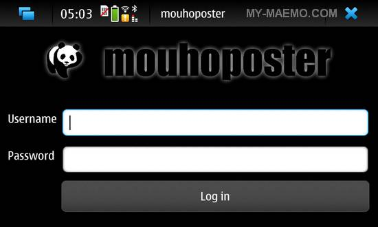 Mouhoposter for Nokia N900 / Maemo 5