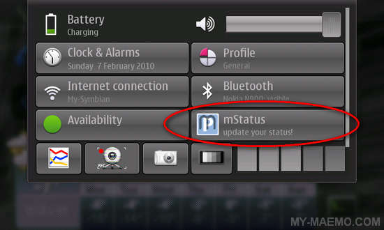 mStatus Applet for Nokia N900 / Maemo 5