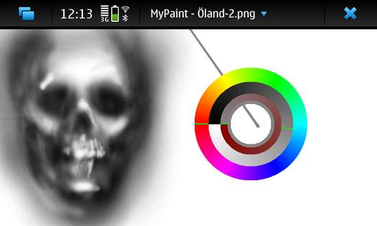 MyPaint for Nokia N900 / Maemo 5