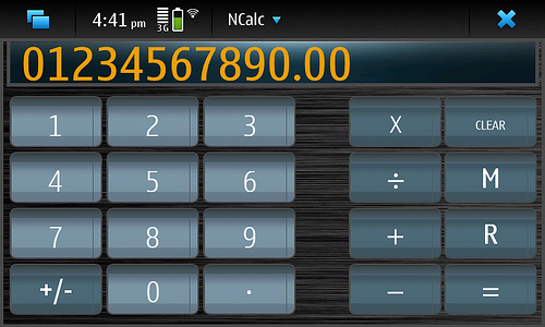 Ncalc for Nokia N900 / Maemo 5