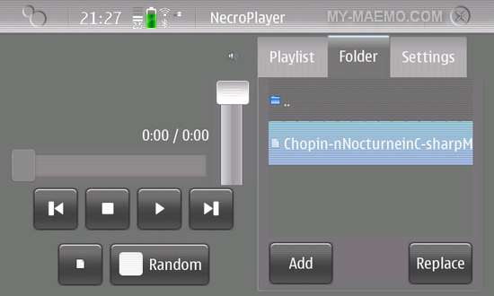 NecroPlayer for Nokia N900 / Maemo 5