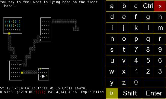 Nethack for Nokia N900 / Maemo 5