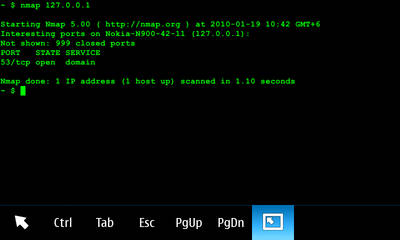Nmap for Nokia N900 / Maemo 5