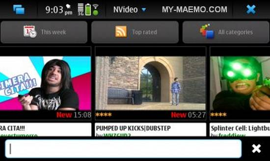 NVideo for Nokia N900 / Maemo 5