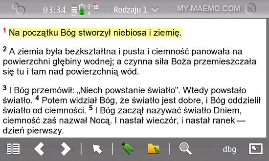 NWTBible for Nokia N900 / Maemo 5
