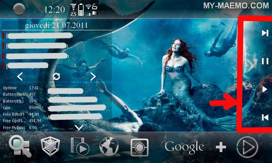 Packed Media Widget for Nokia N900 / Maemo 5