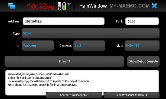 PhoneStream for Nokia N900 / Maemo 5